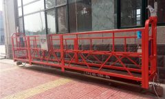 75m Platform Aluminum Suspended Rope Platform 1000KG With Single Phase, Gondola Platform